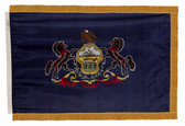 Pennsylvania State Flag - Indoor Fringed