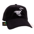 Banded Fitted Cap - Black with Duck Skeleton