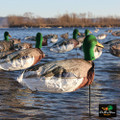 White Rock Headed Mallard Wind Sock Decoys