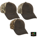Drake 6 Panel Cotton Camo Hat with Wax Front