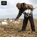 NEW WHITE ROCK DECOY COMPANY ROCKONOMY SNOW GOOSE WIND SOCK HUNTING DECOYS DOZEN