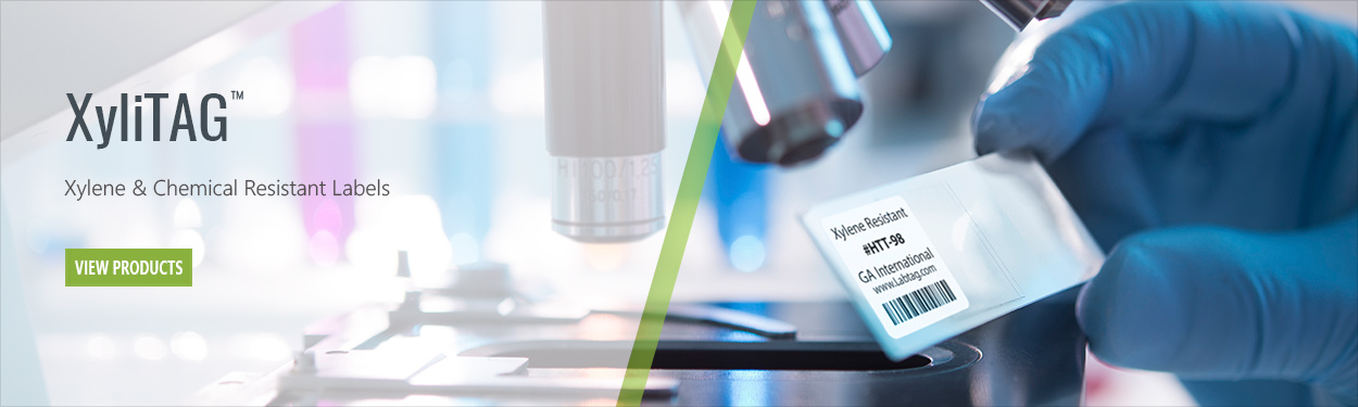 Microscope slide labels