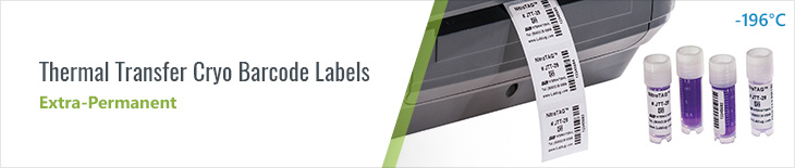 Thermal Transfer Cryo Barcode Labels (extra-permanent) uk