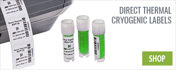 Direct Thermal Cryogenic Labels