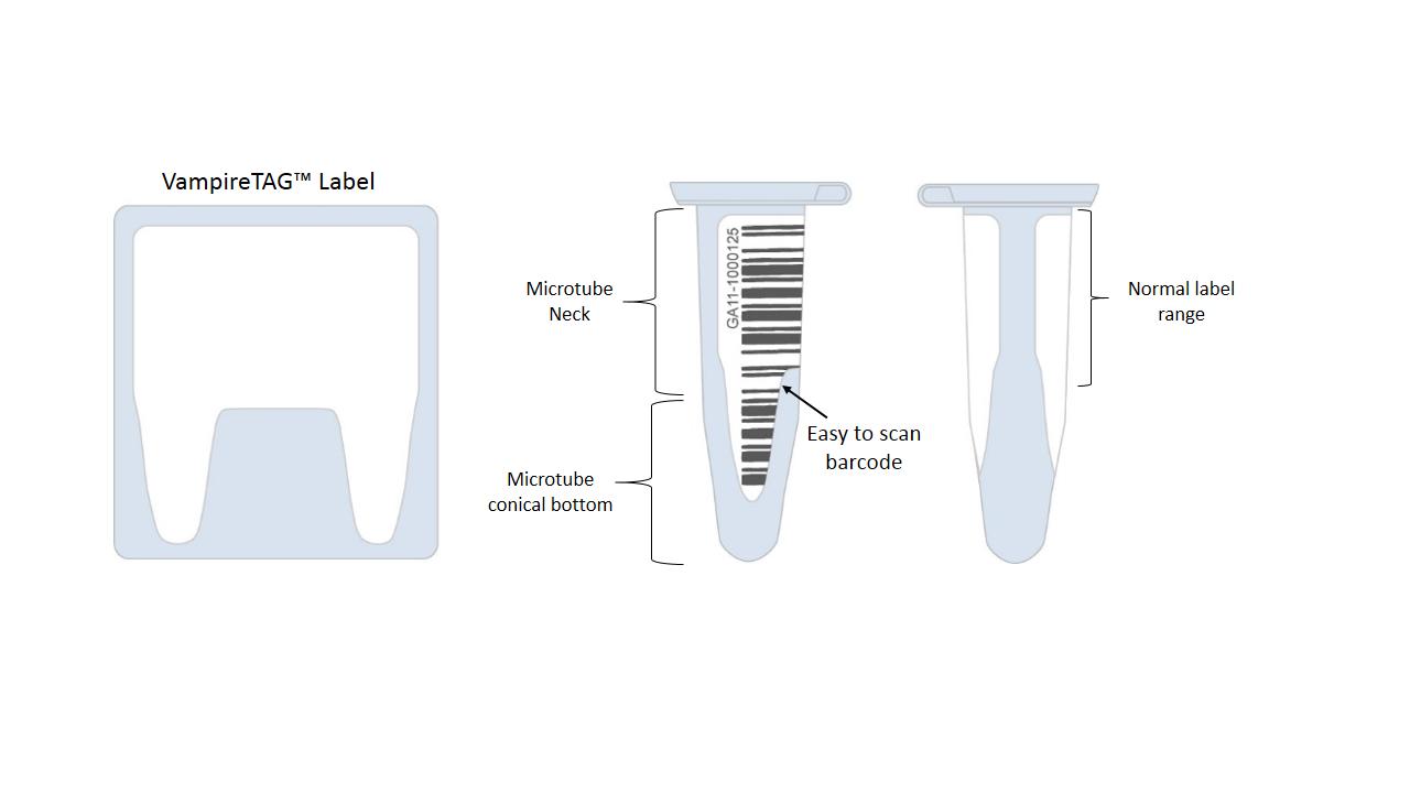 Cryogenic Direct Thermal Labels - 1 213 U0026quot  X 0 2724 U0026quot  2x Teeth  Dfp-150