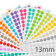 """Cryogenic Color Dots - 0.5"""" / 13mm #LT-13A 15 Assorted Colors"""