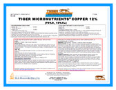 Copper 12% Tiger Micronutrient Granular 50 lb