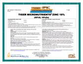 Zinc 18% Tiger Micronutrient Granular 50 lb