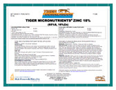 Zinc Oxide 18% Tiger Micronutrient Granular 50 lb