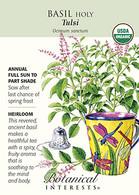 Basil Holy Tulsi Organic HEIRLOOM Seeds
