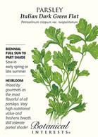 Parsley Italian Dark Green Flat HEIRLOOM Seeds