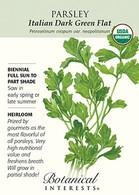 Parsley Italian Dark Green Flat Organic HEIRLOOM Seeds