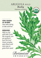 Arugula Wild Rocky Organic HEIRLOOM Seeds