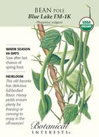 Bean Pole Blue Lake FM-1K Organic HEIRLOOM Seeds