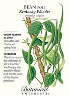 Bean Pole Kentucky Wonder HEIRLOOM Seeds