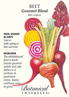 Beet Gourmet Blend HEIRLOOM Seeds