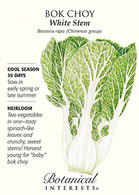 Bok Choy White Stem HEIRLOOM Seeds