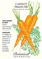 Carrot Danvers 126 HEIRLOOM Seeds