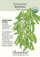 Edamame Butterbean Organic Seeds