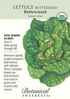 Lettuce Butterhead Buttercrunch Organic Seeds