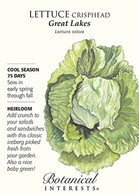 Lettuce Crisphead Great Lakes HEIRLOOM Seeds