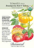 Tomato Pole Brandywine Red & Yellow Organic HEIRLOOM Seeds