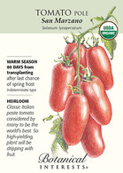 Tomato Pole San Marzano Organic HEIRLOOM Seeds