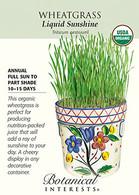 Wheatgrass Liquid Sunshine Organic HEIRLOOM Seeds