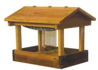 Stovall - Pavilion Feeder with seed Hopper and Perforated Plastic Floor