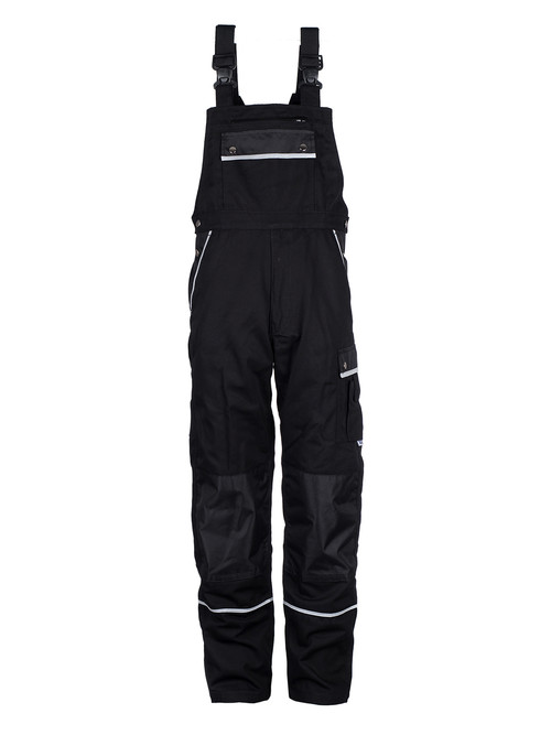 German Quality Industrial Workwear | Bib and Brace Overall Black