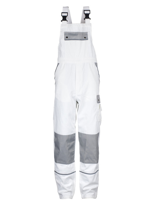 German Quality Industrial Workwear | Bib and Brace Overall White