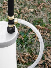 Reinforced Vinyl Filler Hose for quick connect EarthStraw tee.  Available in 2, 4, 6, and 8 foot lengths.  Requires EarthStraw Tee Release (ESTR-075) to disconnect hose from tee.