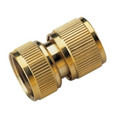 Brass Double-Female Hose Adapter For Connecting Hoses in Series and Attaching to an Outdoor Faucet