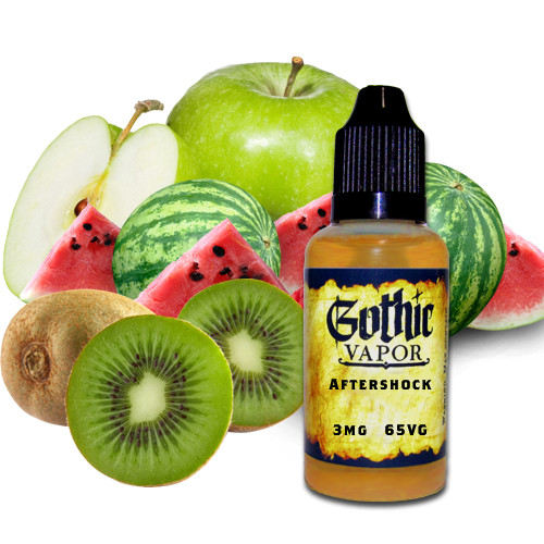green apple watermelon kiwi ejuice. aftershock eliquid.
