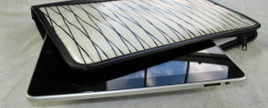 iPad Leather & Sailcloth Zip Portfolio
