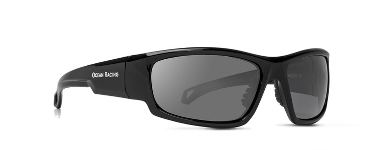 Gulfstream Gloss Black Frame & Silver Mirror Polarized Lenses