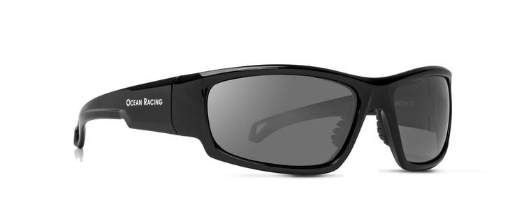Gulfstream Gloss Black Frame & Silver Mirror Polarized Lenses