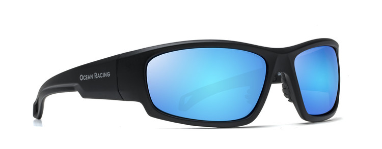 Gulfstream Matt Black & Blue Mirror Polarized Lenses