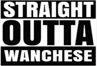 "Straight Outta Wanchese 3"" X 5"" Sticker"