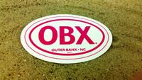 OBX Pink Oval Sticker