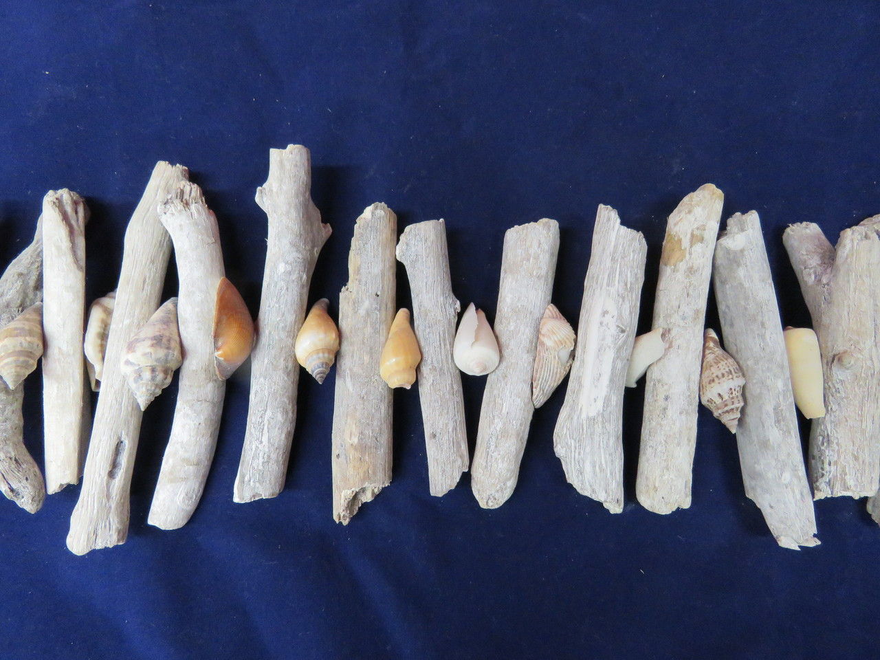 Driftwood Garland Shells Whitewashed Antiqued Outer Banks Beach Coastal Decor