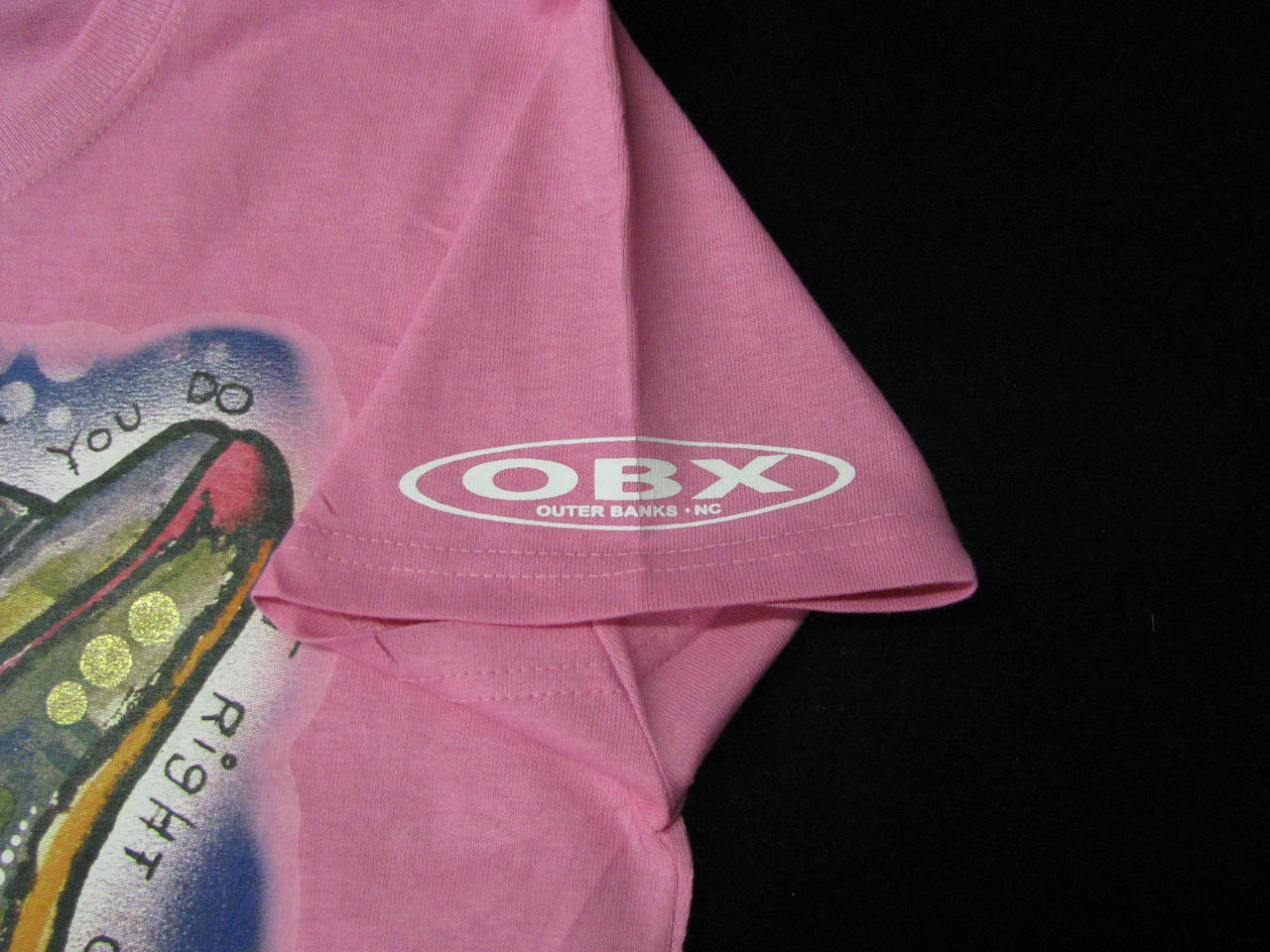 You Only Live Once But if You Do it Right Once is Enough Dolphin OBX Outer Banks Glitter Ladies T-Shirt YOLO
