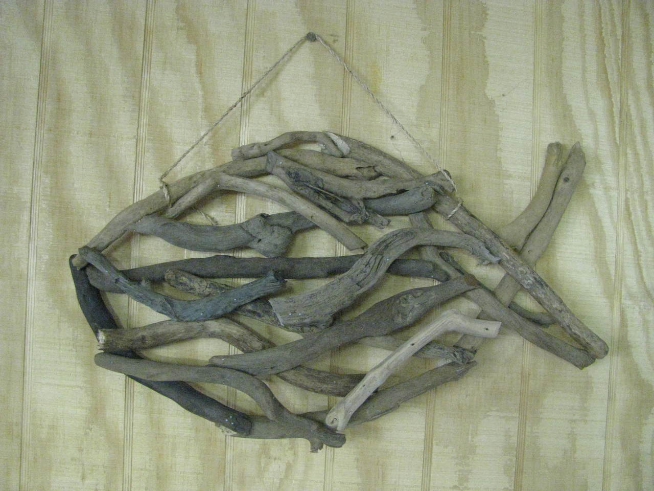 Driftwood Fish Wall Hanging Art Outer Banks Coastal Decor