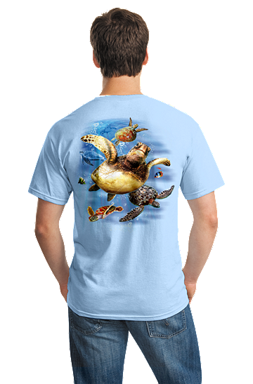 Sea Turtles Swimming Outer Banks Beach OBX T-shirt