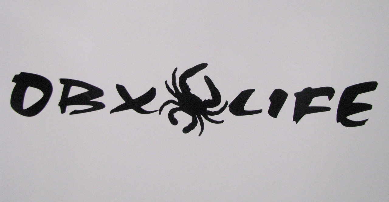 OBX OBXLIFE crab sticker decal car vehicle beach blue outer banks