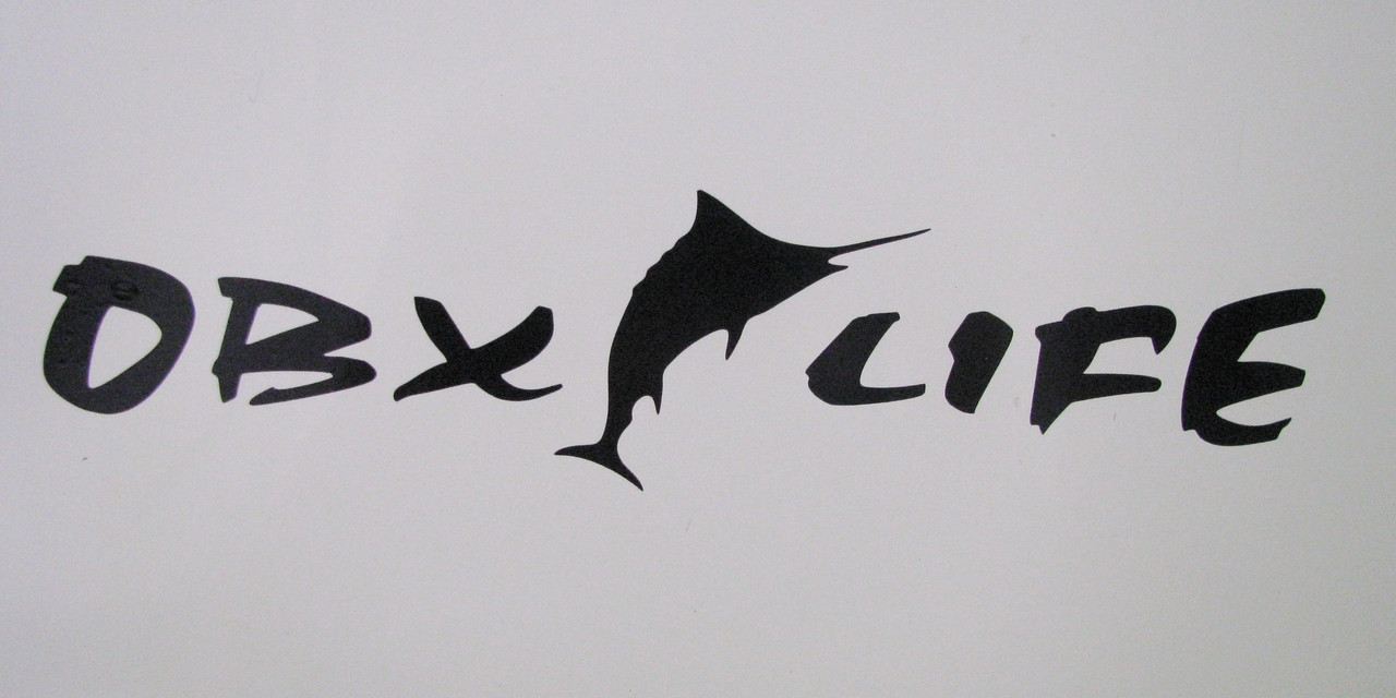 OBX OBXLIFE marlin fish fishing sticker decal car vehicle beach outer banks