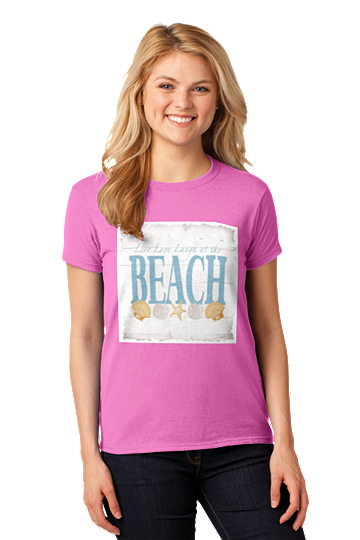 Outer Banks Live Love Laugh Beach OBX Missy Fit Tee
