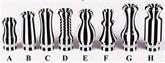 510/901 Pin Stripe Delrin Drip Tip