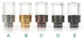 510 Stainless Steel + Glass Drip Tip