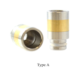 510 SS + Brass Wide Bore Drip Tip | VapeKing